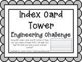 Index Card Tower: Engineering Challenge Project ~ Great ST