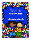 Index Center Cards