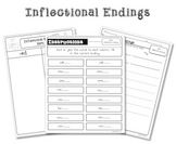Inflectional Endings Sorting Activity Pack