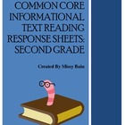 Informational Reading Response Sheets - Common Core - 2nd Grade
