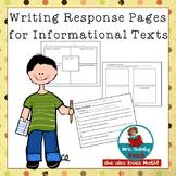 Informational Text Response - For Any Text- 3 Reader Respo