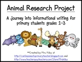 Informational Writing - Animal Research Project for Primar