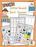 Beginning Sound Recognition: Initial Sound Word Sort - Vow