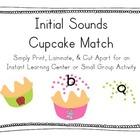 Initial Sounds Cupcake Match!