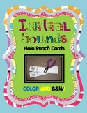 Initial Sounds Hole Punch Cards {Color and B/W!}
