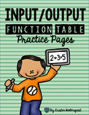 Input/Output Function Tables - 3rd Grade