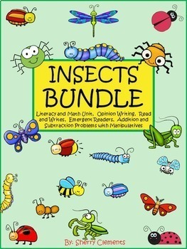 Insects Bundle (Literacy & Math Unit, Reading, Writing, Ad