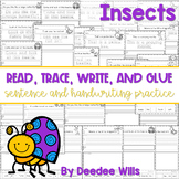 Insect read, trace, glue, and draw
