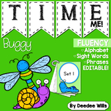 Insects Gone Buggy! Time Me Editable Word and Phrase Fluen