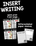 Insert Writing Bundle 1 {August - November}