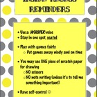 Inside Recess Reminders- FREEBIE