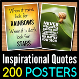 Back to School Inspirational Quotes Posters - 200 Classroo