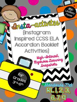 Insta-activities {Instagram inspired ELA Craftivities for