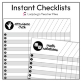 Instant Checklists