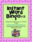 Instant Word Bingo #3
