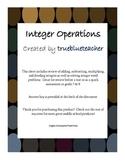 Integer Operations - Adding, Subtracting, Multiplying, Dividing
