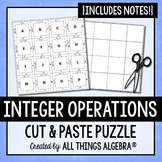 Integer Operations: Notes & Puzzle Activity