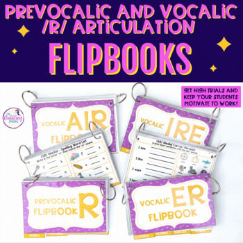 Interactive Articulation FLIP BOOKS For /prevocalic r, ar,