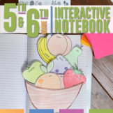 Interactive Grammar Notebook for Fifth and Sixth Grades