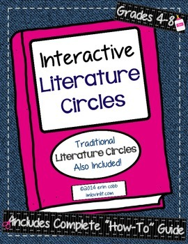 Interactive Literature Circles for Grades 4-8 {& Traditional Literature Circles}