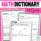 Interactive 3rd Grade Math Dictionary for the Whole Year -