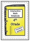Interactive Math Notebook / Journal - 4th Grade - (Fractio