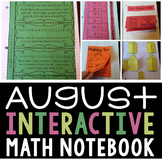 Interactive Math Notebook for August (Second Grade)