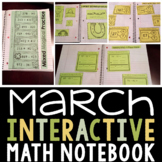 Interactive Math Notebook for March for Second Grade