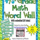 Interactive Math Word Wall - Grades 4 & 5 Combo Pack