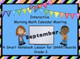 Interactive Morning Math Calendar Meeting SMARTBoard for S