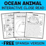 Close Reading for Interactive Notebooks - Ocean Animals (E