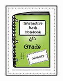 Interactive Notebook / Journal / 4th Grade / GEOMETRY