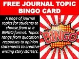 Interactive Notebook Journal BINGO