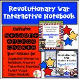 Interactive Notebook / Journal - REVOLUTIONARY WAR - Socia
