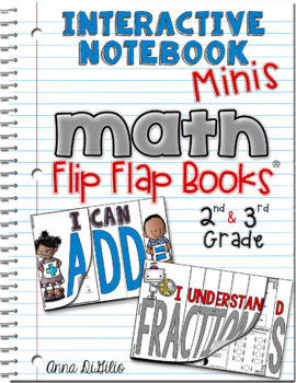 Interactive Notebook Minis: Math Flip Flap Books