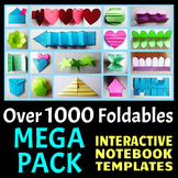 Interactive Notebook Templates - Easy to Cut - MEGA PACK -