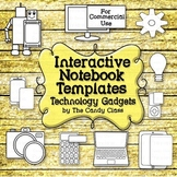 Interactive Notebook Templates: Technology Gadgets (Commer