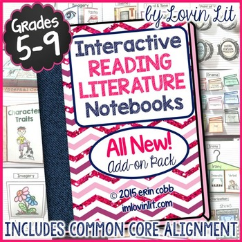 Interactive Reading Literature Notebooks 2 ~ ALL NEW Add-On Pack for Grades 5-9