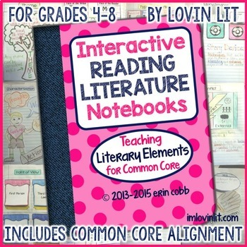 Interactive Reading Literature Notebooks ~ Literary Elemen