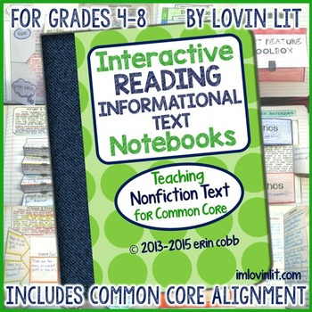 Interactive Reading Notebooks Informational Text: Nonfiction for Common Core 4-8