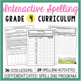 Interactive Spelling Grade 4: A Year Long Common Core Unit