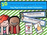 Interactive Student Engagement Activities and Strategy Strips