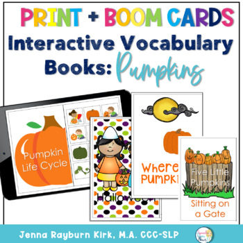 Interactive Vocabulary Books: Pumpkin Themes