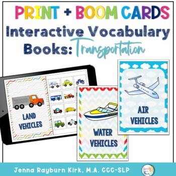 Interactive Vocabulary Books: Transportation