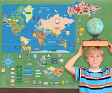 Interactive World Map Wall Play Set