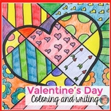 Valentine's Day Interactive Coloring Sheets