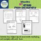 Interactive 1st  Grade Math Dictionary - Common Core