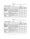 Intermediate Editing Checklist