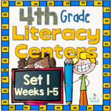 Intermediate Literacy Centers Set 1, {Aligned with 4th Gra