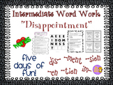"""Word Work and Vocabulary 5-Day Intermediate Unit """"DISAPPOINTMENT"""""""